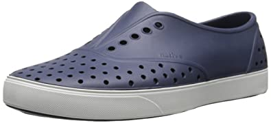 Native Unisex Miller Fashion Sneaker, Regatta Blue/Shell White,11 Mens/13