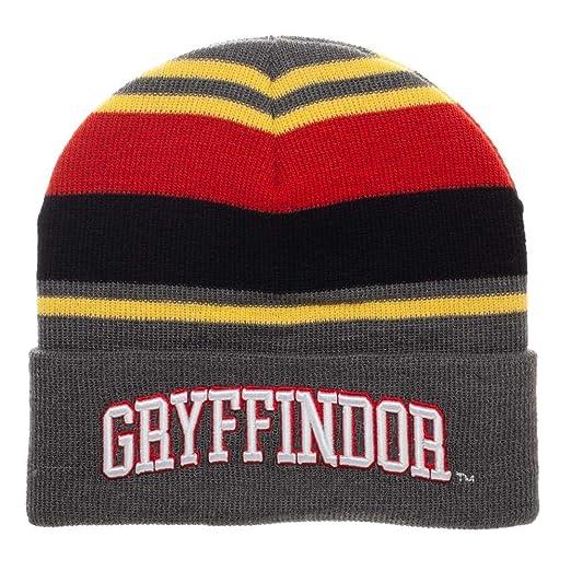 87211fc6cd1 Amazon.com  Bioworld Harry Potter Gryffindor Striped Cuffed Beanie ...