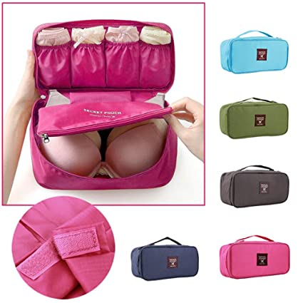 40f1261d5a Bra Underwear Lingerie Travel Bag for Women Organizer Trip Handbag Luggage Traveling  Bag Pouch Case Suitcase