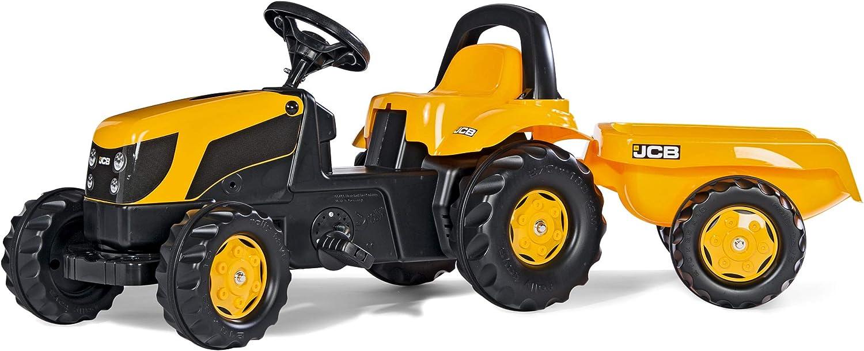 f/ür Kinder von 2,5 bis 5 Jahren, Heckkupplung 012619 Rolly Toys rollyKid JBC Trettraktor mit Anh/änger