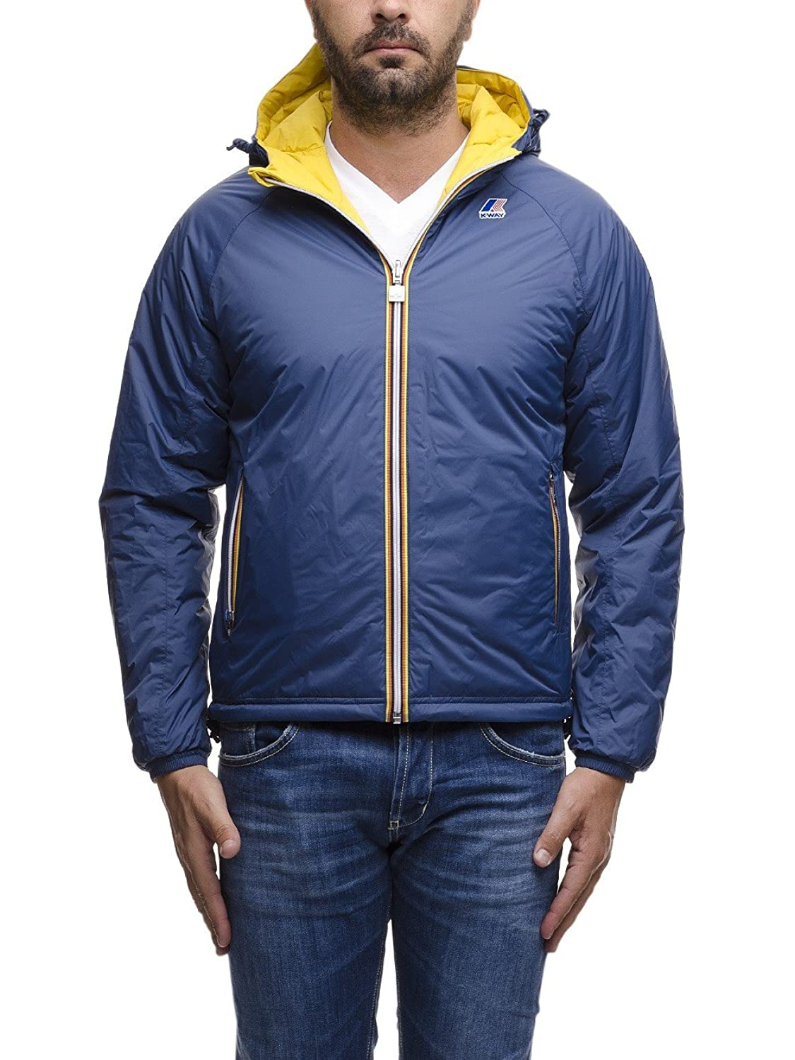 K-Way ALOIS PADDED DOUBLE BLUE DEEP-YELLOW MUS