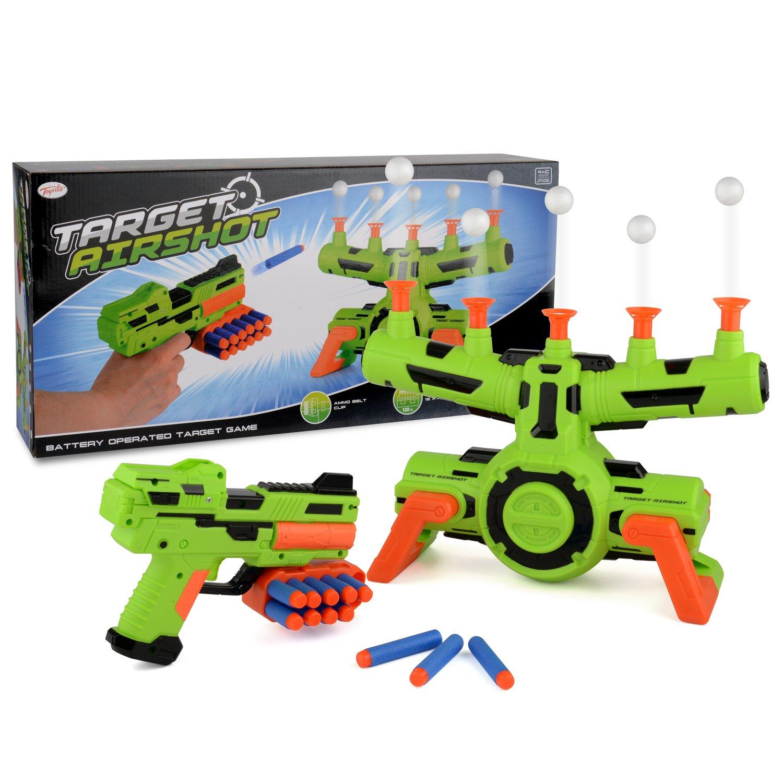 Toyrific Flotante Objetivo airshot Juego de Espuma Dart Blaster Chorro de Disparo, Juguete niños Bola Wilton Bradley B-TY5837