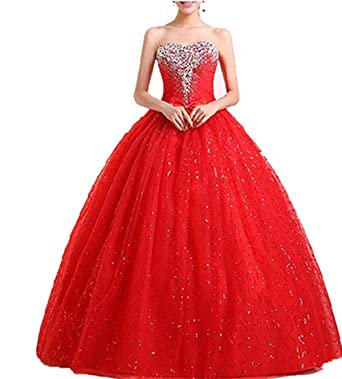 WT09 RED Evening Dresses party full Length Prom gown ball dress robe (24)