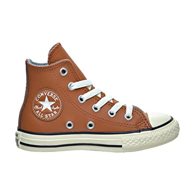 Sneaker Converse Chuck Taylor All Star Leder 33 Braun: Amazon.de ...