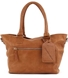 Bag Livingston 1390 Damen Henkeltaschen 30x27x7 cm (B x H x T), Braun (Cognac 300) Cowboysbag