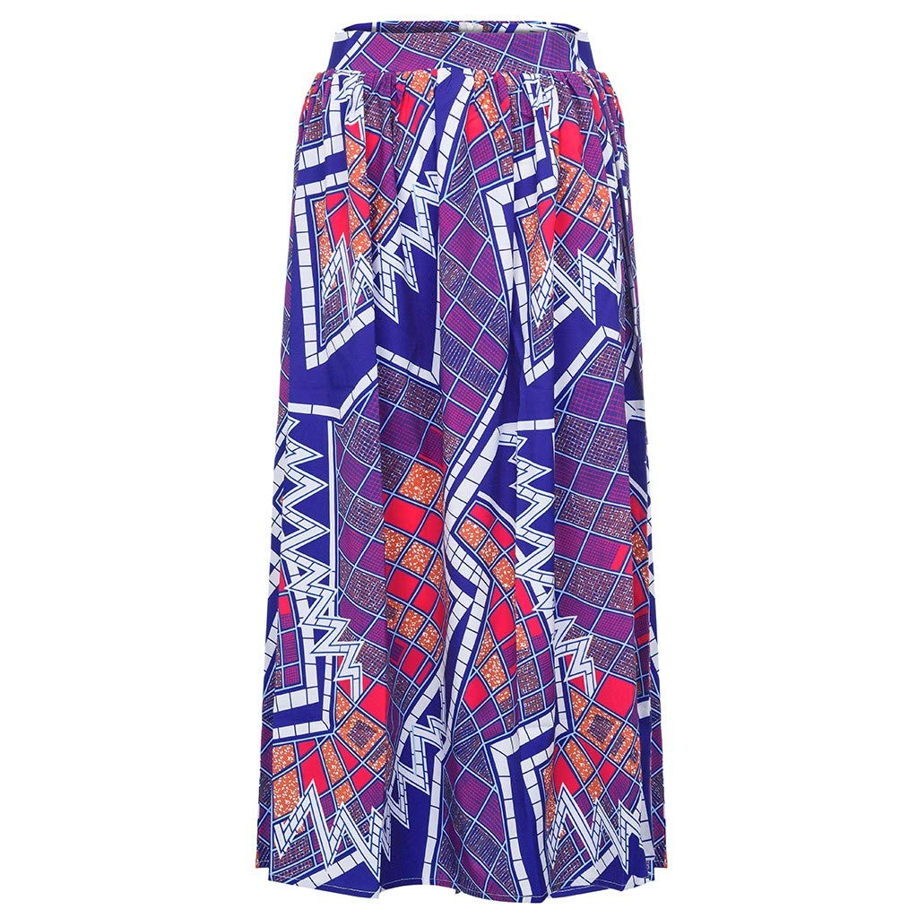 WOCACHI Skirt for Womens, Womens Fashion Leisure African Flower Long Skirt High Waist A-line Long Skirt Trendy Halter Backless Hollow Out Long Sleeve Sleeveless Strap Strapless Lace Bodycon by WOCACHI (Image #5)