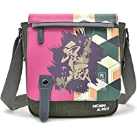 HAMIQI Anime Demon Slayer Backpack Cosplay Shoulder Bag Clamshell Messenger Bag Student Cross Body Backpack Fashion…