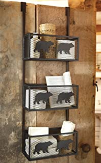 Bear Bathroom Door Shelf   Cabin Decor