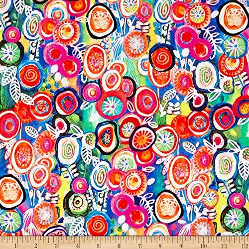 P & B Textiles Euphoria Circles Digital Multi Fabric by The Yard -  0563152