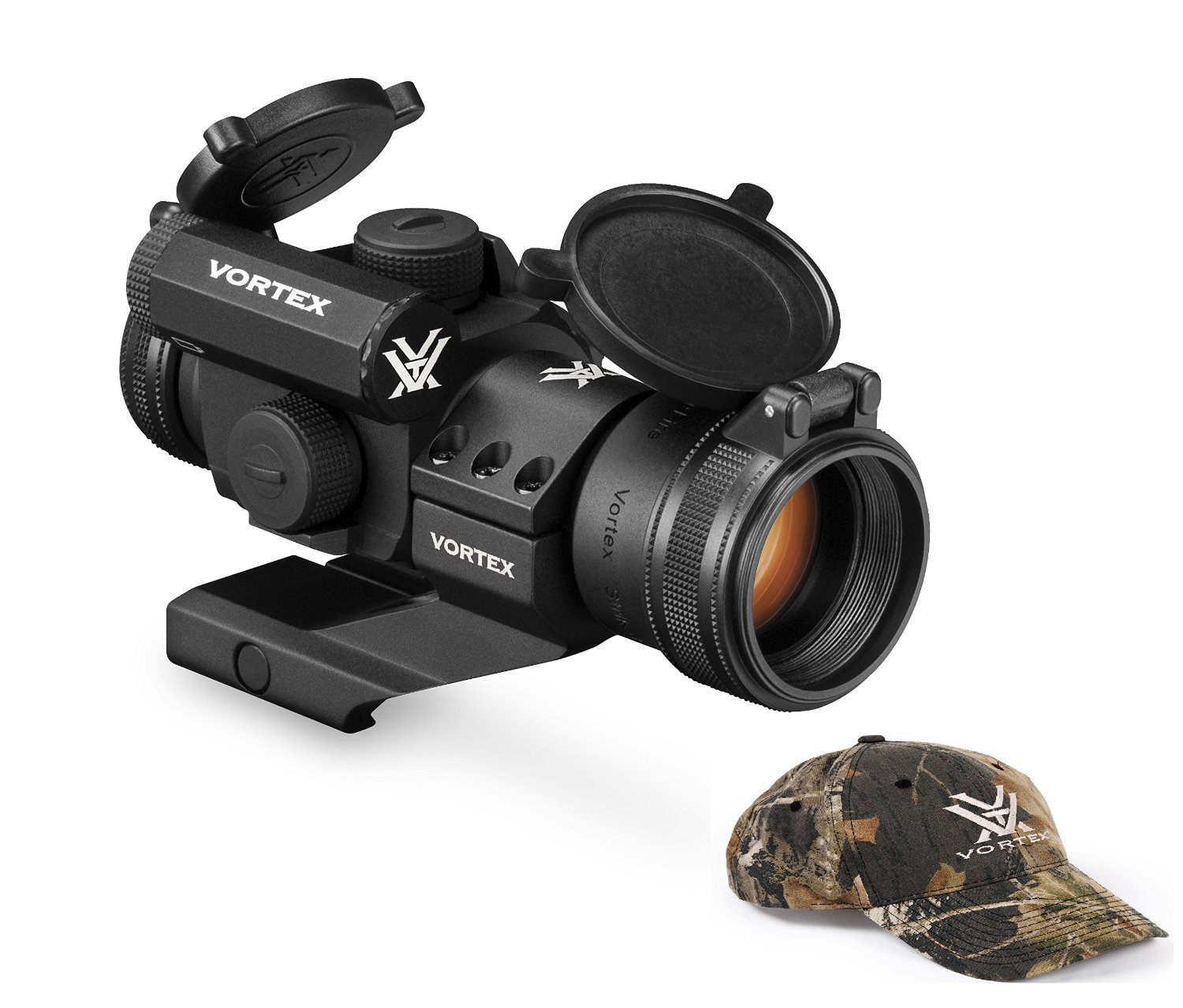 Vortex Optics SF-RG-501 StrikeFire II Red/Green Dot Scope with Vortex Optics Hat (Colors May Vary) by Vortex Optics