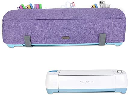 Luxja Dust Cover for Sewing Machine Compatible with Brother and Singer Sewing Machine Cover with Pockets for Extra Accessories Lavender