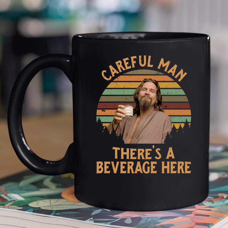Vintage The Big Lebowski Mug Careful Man There'S A Beverage Here Coffee Mug Gift For Men Women