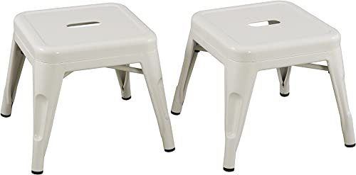 Reservation Seating Kids Steel Stool, White, One Size