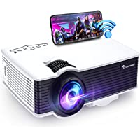 """$119 » WiFi Projector, Outdoor Movie Projector with 1080P & 200"""" Display Supported, 5500 Lux Mini…"""