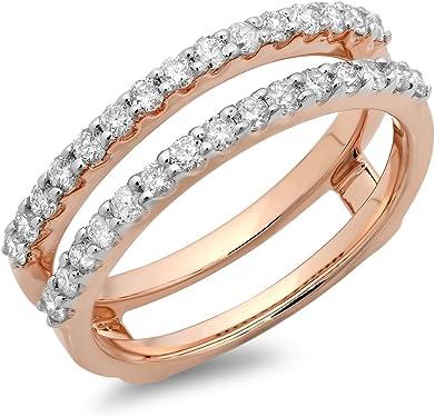 anillo de diamante o rosa doble