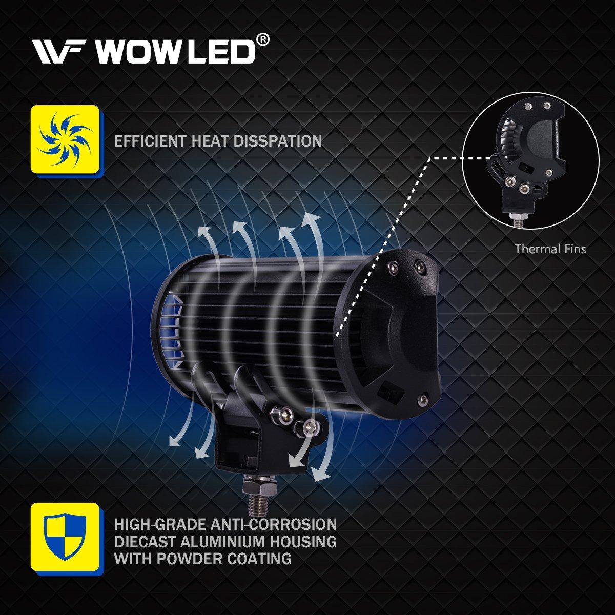 WOWLED 2 Pack 36W LED Light Bar 7 Inch CREE LED Lights Bar Lamp Light Floodlight Driving Work Light Offroad Fog Light Lamp Truck Car UTE 4WD