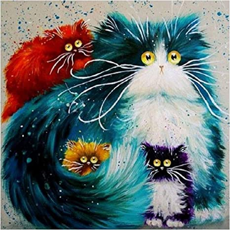 One Cat Full Drill 5D Diamond Painting Embroidery DIY Cross Stitch Kits Decor