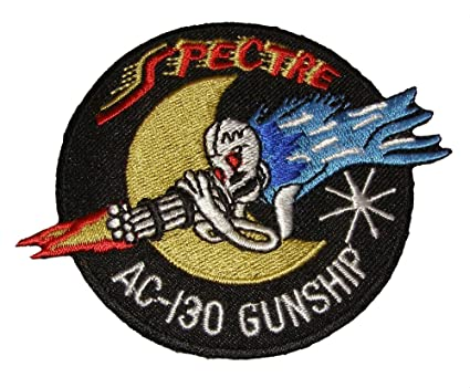Ac-130 spectre patch gunship us air force ac130 skull moon afb pin.