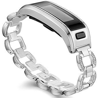 Ersatzarmband für Garmin Vivosmart HR, Metallgehäuse mit einstellbarem Uhrenarmband, Zubehör