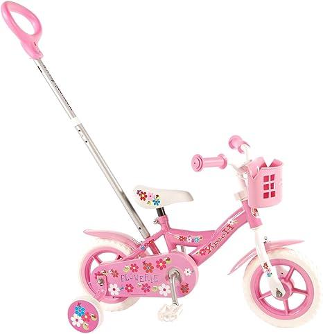 Kubbinga Yipeeh Flowerie Bicicleta de niña con Barra de Empuje ...