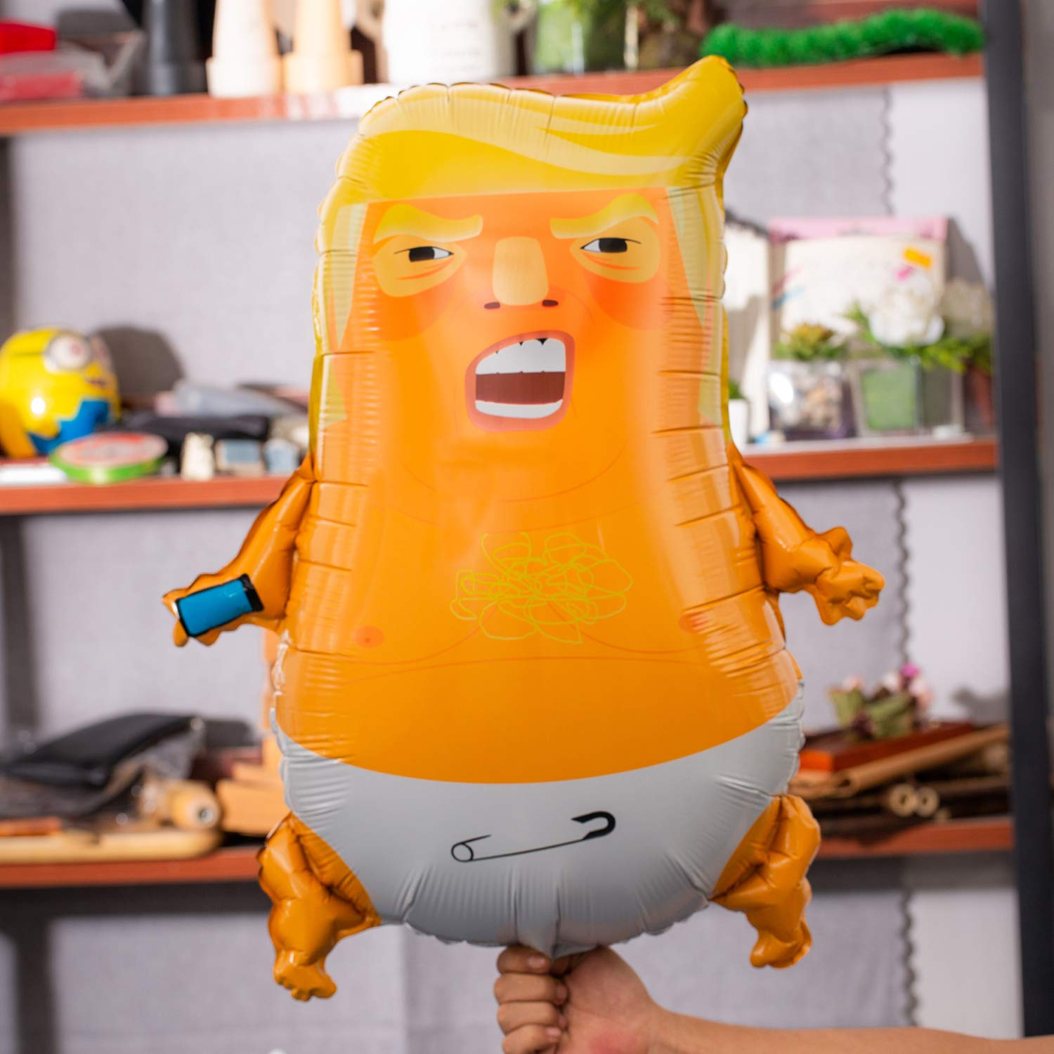10 Pack Bonus - Angry Baby Trump Foil Balloons   24 inches   Perfect for Parties   Gag Gifts   100% Satisfaction Guarantee