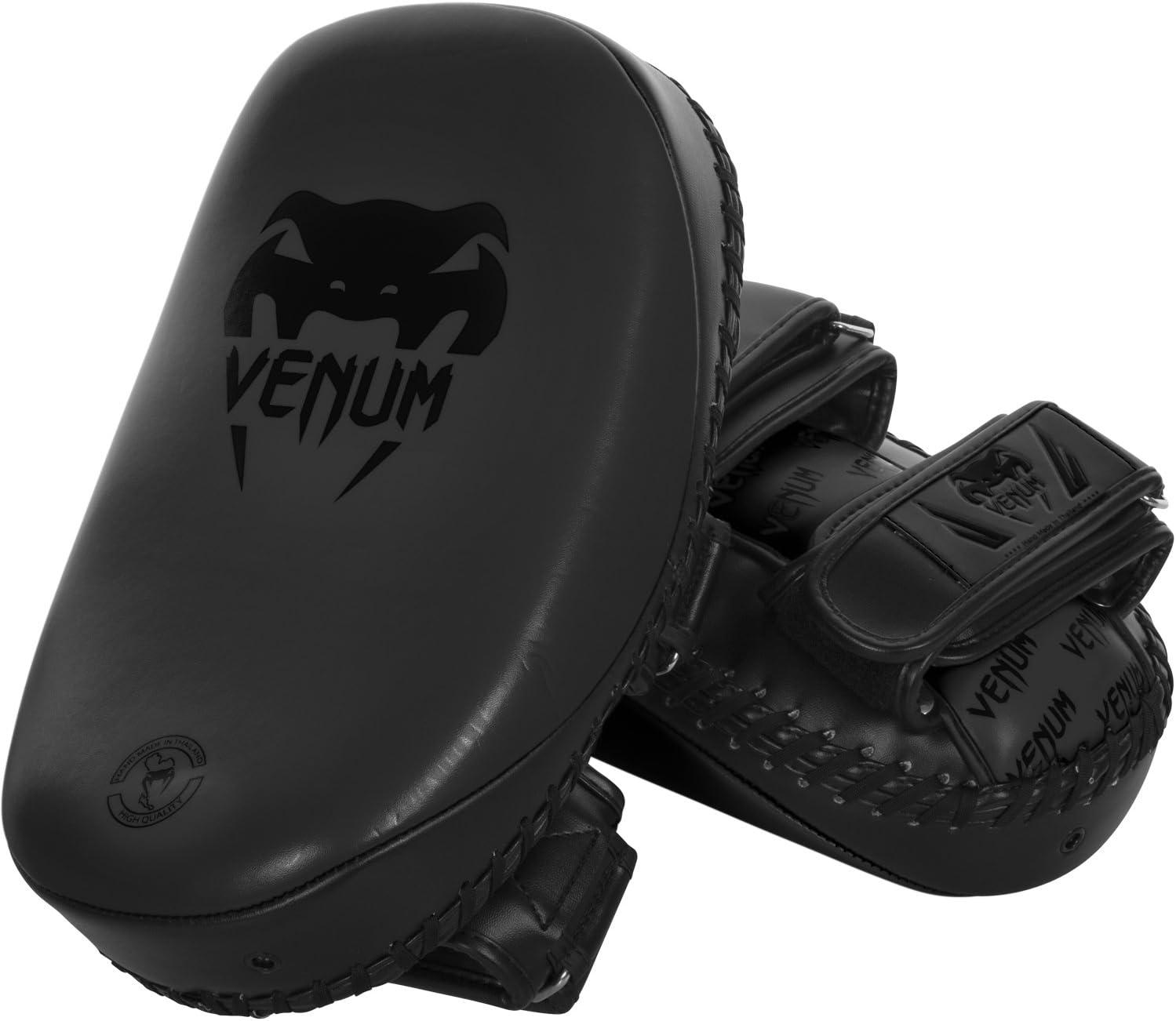 Venum Skintexレザーライトキックパッド(ペア) Matte/黒