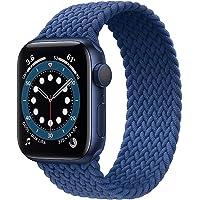 YGGFA Sport riem compatibel met geweven enkele lus Apple Horloge band 38mm 40mm 42mm 44mm, zachte elastische geweven…