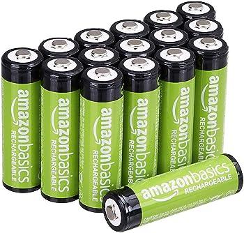 16-Pack AmazonBasics AA Rechargeable Batteries