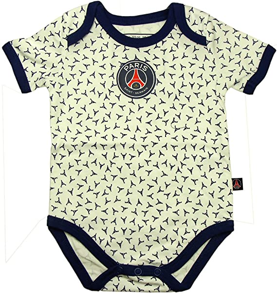Psg Official Paris Saint Germain Eiffel Tower Baby Bodysuit Blue 6 Months Amazon Ca Clothing Accessories