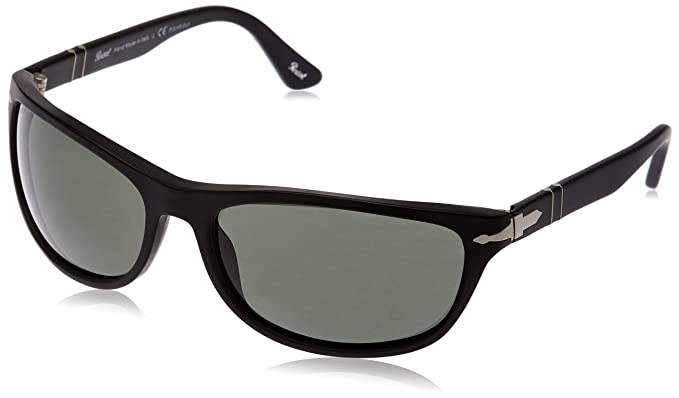 d40e1a4555a26 Image Unavailable. Image not available for. Color  Persol Men s PO3156S  Sunglasses Black Polar Green 63mm