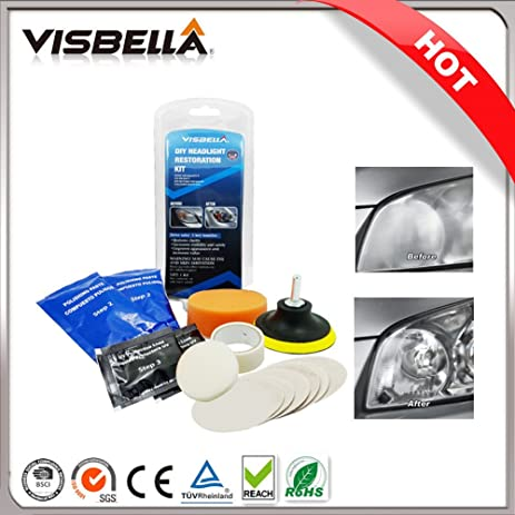 Amazon Com Visbella Car Headlight Restoration Kit Restored Headlamp