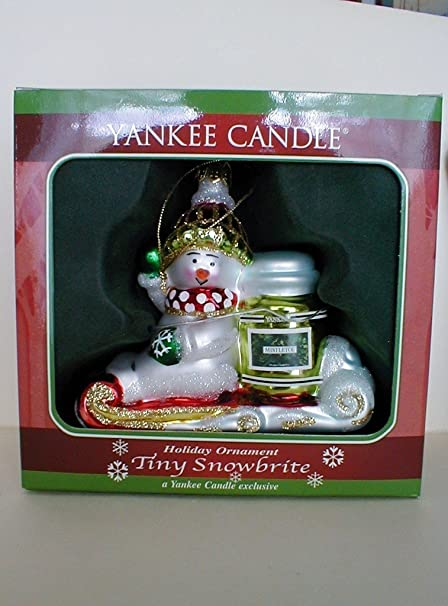Amazon.com : Yankee Candle Christmas Snowman Holiday Ornament~Tiny  Snowbrite : Other Products : Everything Else - Amazon.com : Yankee Candle Christmas Snowman Holiday Ornament~Tiny