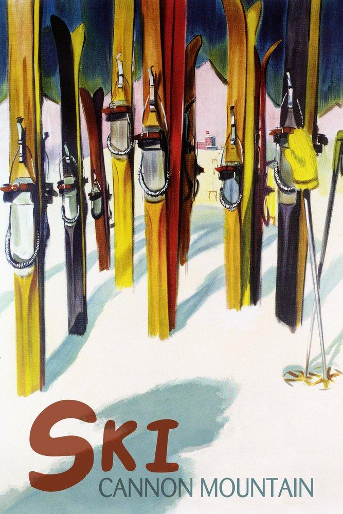 Cannon Mountain、New Hampshire – カラフルなスキー 36 x 54 Giclee Print LANT-50921-36x54 36 x 54 Giclee Print  B017E9UU3G