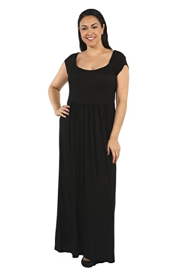 cc264bd2f25 24 7 Comfort Apparel Plus Size Dresses Cool Cap Sleeve Pleated for Womens -