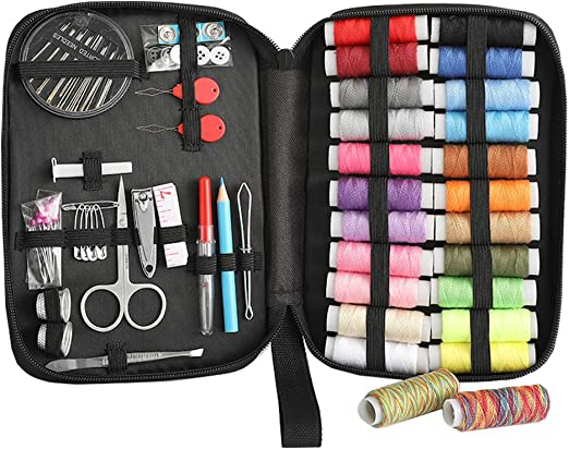 Kit de Costura con Estuche de Transporte, ZhaoCo Juegos de Costura Premium Completo Mini Accesorios de Costura para El hogar, Viajes, Uso de Emergencia: Amazon.es: Hogar