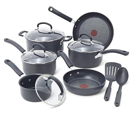 Amazoncom T Fal E765sc Hard Anodized Cookware Set Nonstick Pots