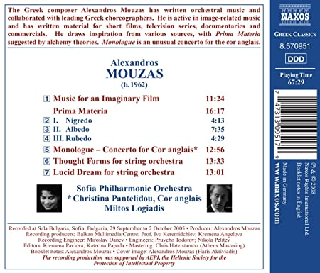 Mouzas music for an imaginary: Sofia Philharmonic Orchestra ...