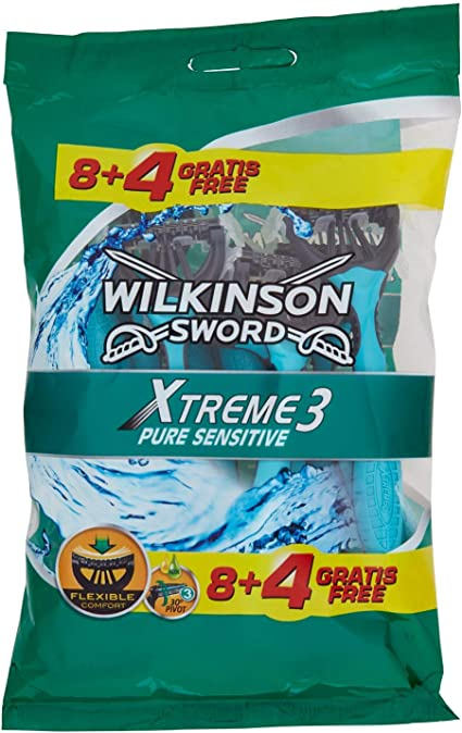 Wilkinson 7005710Q – Afeitadora desechable Xtreme 3 Sensitive ...