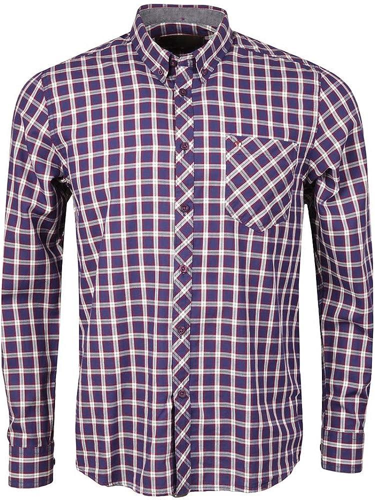 Merc Sancton - Camisa de cuadros, color azul: Amazon.es: Ropa y accesorios