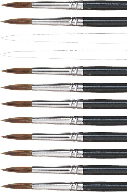Jewel Bristle Brush Round Size 8