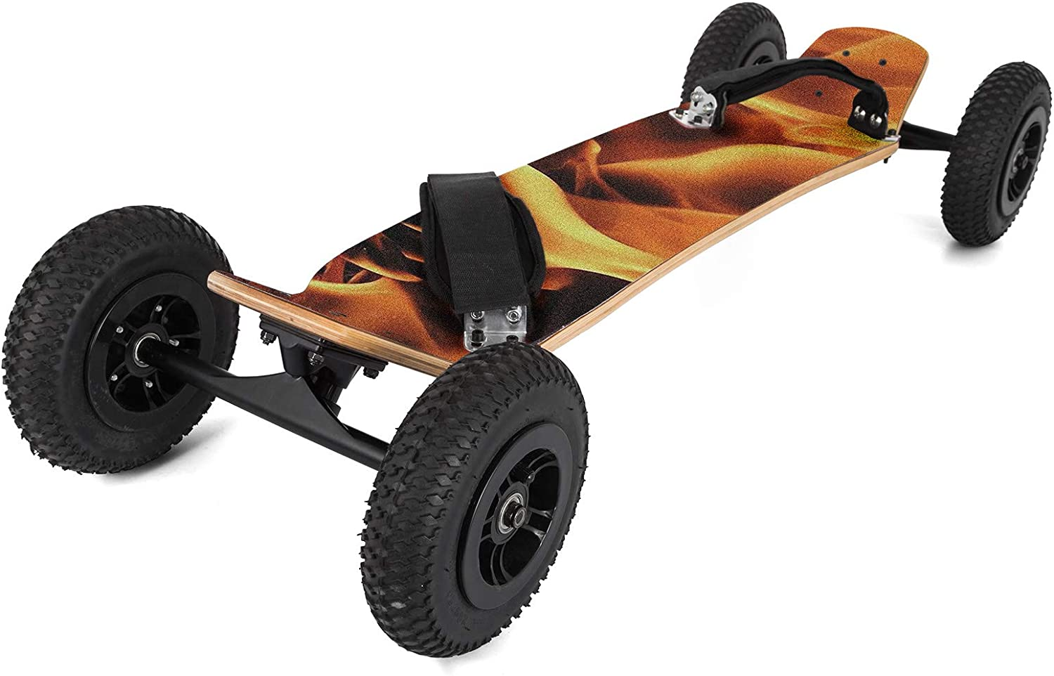 Happybuy Mountainboard 39 inches Cross Country Skateboard All Terrain Skateboard Longboard with Bindings for Cruising and Downhill