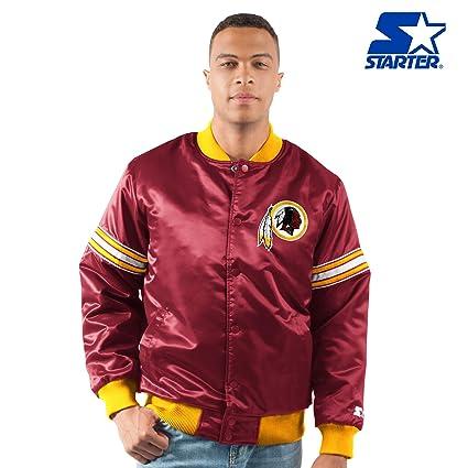 0e49fae37 STARTER Washington Redskins The Draft Pick Full Snap Satin Jacket -  Burgundy (4X)