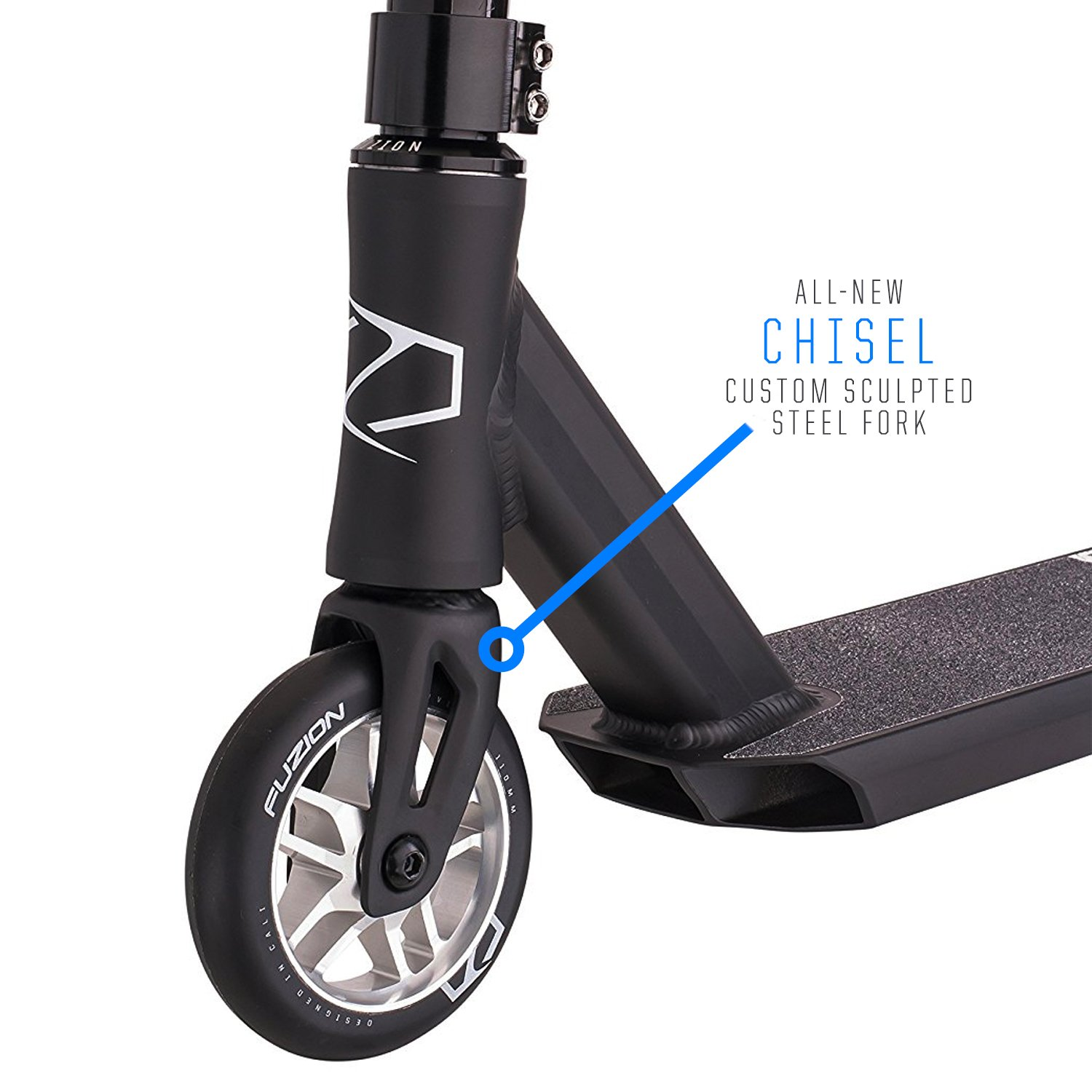 Fuzion Z250 Pro Scooters - Trick Scooter - Intermediate and Beginner Stunt Scooters for Kids 8 Years and Up, Teens and Adults – Durable, Smooth, Freestyle Kick Scooter for Boys and Girls (Black) by Fuzion (Image #2)