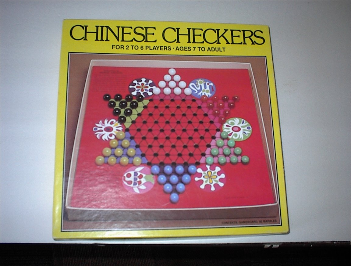 Vintage Whitman Chinese Checkers (Glass Marbles)(1981)