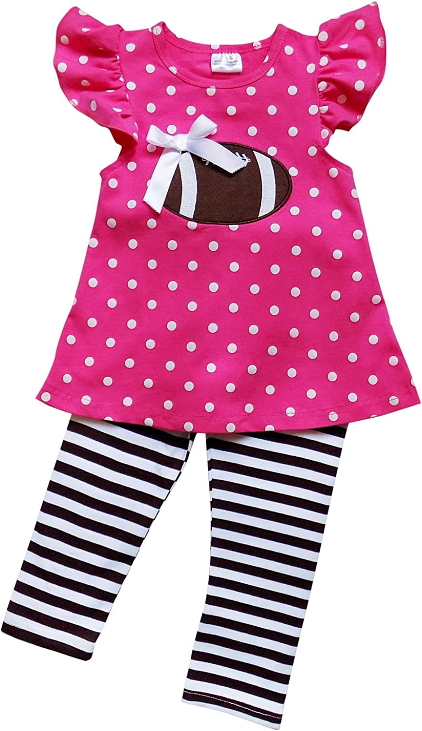 1 or 2 Pc Outfit So Sydney Girls Pink /& Brown Friday Night Football