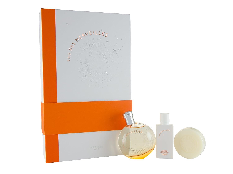 Hermes Eau Des Merveilles Set Edt Bl Soap Beauty Woman 100 Ml