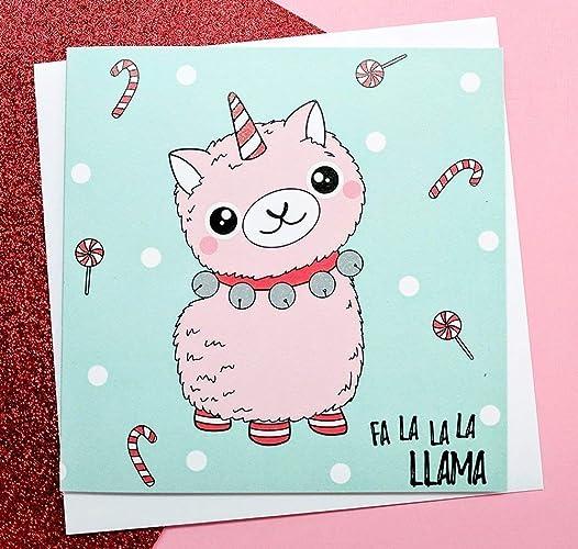 9c2f43bf0 Llamacorn Christmas Card/Llama Unicorn/Unicorn Christmas Card/Hand Drawn:  Amazon.co.uk: Handmade
