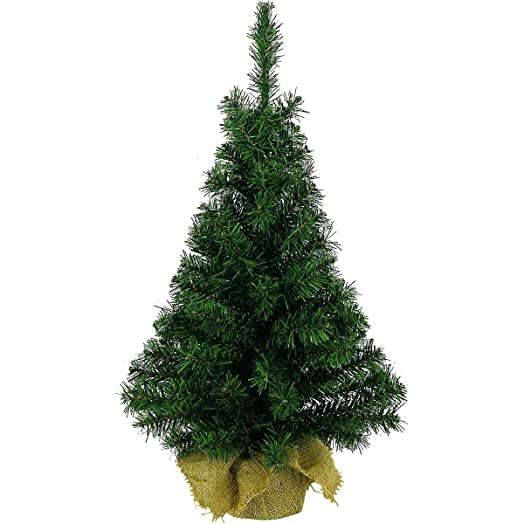 mini table centerpeice christmas tree with hessian base 45cm - Table Christmas Tree