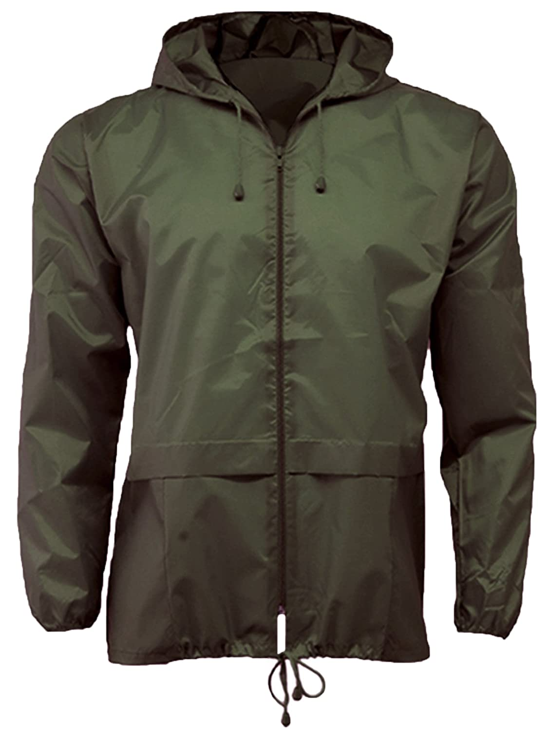 G5 Apparel Lightweight Unisex Cagoule Kagool (XL, Olive)