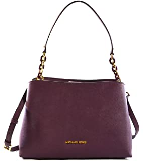 cc3f79cb70 MICHAEL Michael Kors Sofia Large East West Saffiano Leather Satchel Crossbody  Bag Purse Tote Handbag